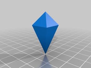Blank Alternative d4 Shaped Crystal