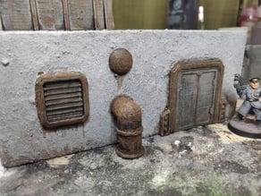 Scifi Door and window 28mm