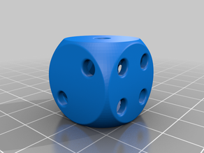 Hollow dice with rounded corners