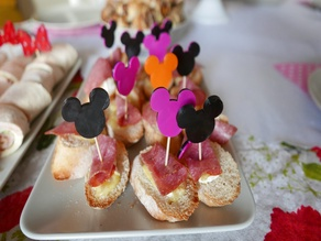 Mickey mouse sign food decor