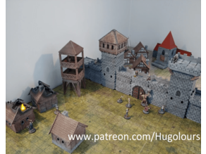 Modular Castle, Village, Town, House, Tower, Church,  Gates, Cathedral and Dm Screen
