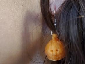 Dopey Pumpkin Face Earrings