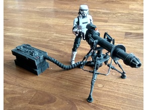 """Star Wars Tripod Laser Canon 6"""" Action figures"""