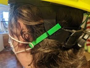 Mask Ear Saver for Hard Hats