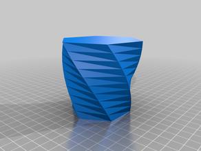My Customized Twisted Polygon Vase