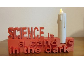 Science is a Candle in the Dark