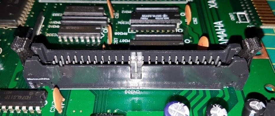 Yamaha YIS-805 mainboard's IDC connector lock