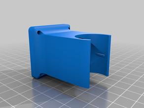E3D v5 40mm fan adapter - longer duct section