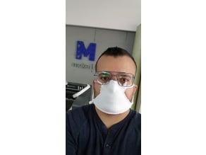 3D Printed TPU mask on fabric
