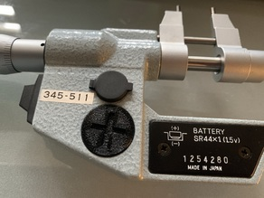 Mitutoyo Micrometer Battery Cover