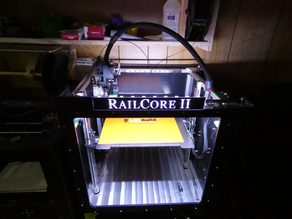 Railcore 2 Top Cover Interface with Logo