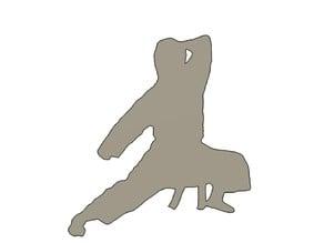 Karate Dude Silhouette