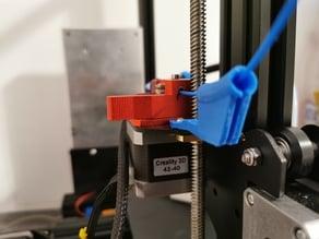 Ender 3 extruder open filament guide for Aluminium Extruder