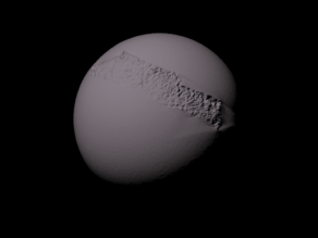 Triton with known topography scaled one in twenty million