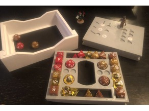 Dice Tray and Holder with Action Tracker