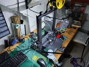 Flexible top and camera LED lighting holders for 3D printer (Ender 3 Pro)