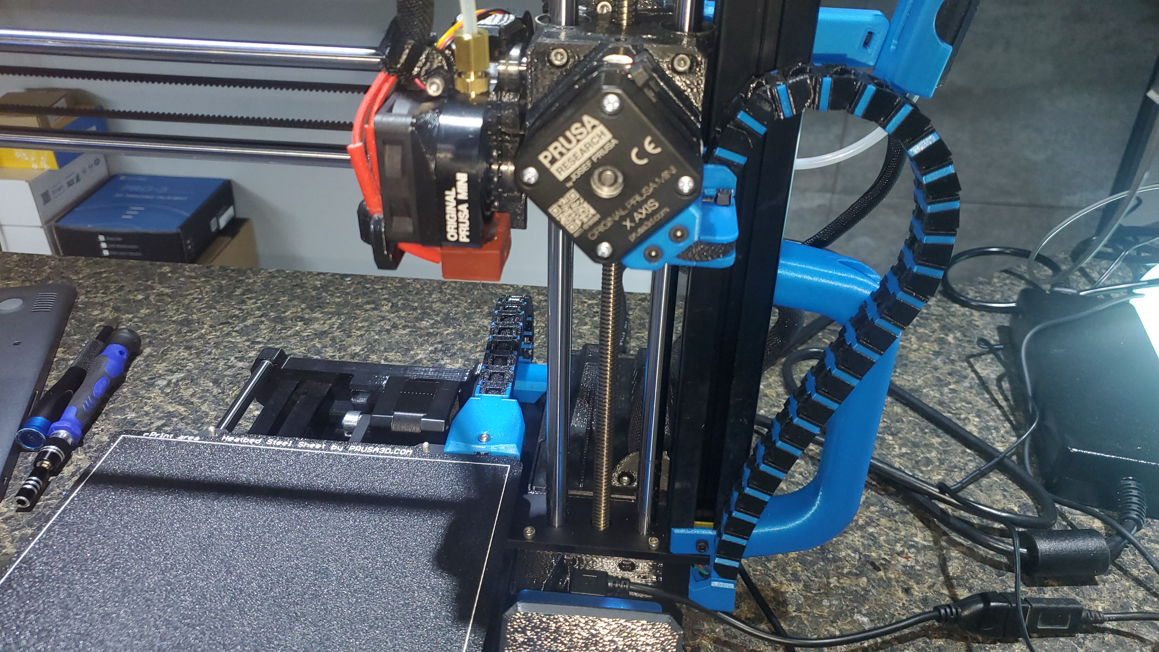 Prusa Mini Cable Chains (x-axis, headbed)