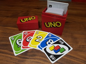 UNO Box - Multi Color - Space for Cards and Instructions