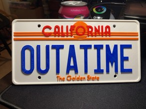 Back to the Future License Plate OUTATIME