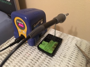 Soldering Iron Holder w/ Sponge and tip tray