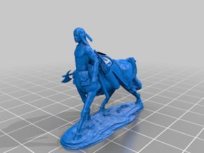 Plains Centaur with tomahawk and long hair