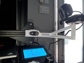 Ender 3 x-axis webcam mount (1/4 inch screw mount)