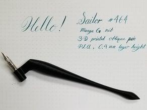 Oblique Nib Holder for Calligraphy