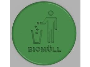 Biomüll Zeichen (Organic-Waste-Sign)