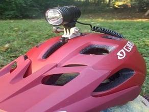 GoPro style helmet mount