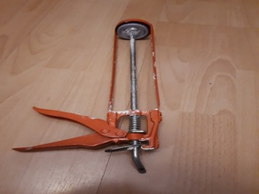 Overlay for caulking gun / silicone sealant tube dispenser