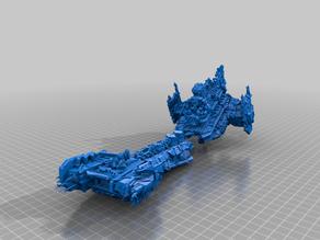 wrecked battle barge - bfg - imperium - terrain