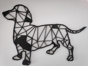 Dachshund / Teckel dog  Wall Sculpture 2D
