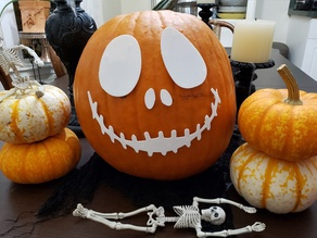 Halloween Pumpkin Decor - Jack Skellington