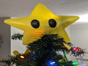 Resliced Mario Power Star Tree Topper