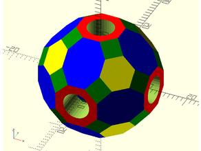 Truncated Rhombicuboctahedron Bead
