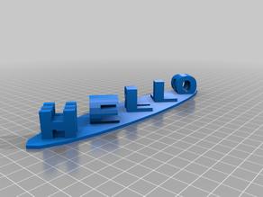 3D Hello World Sculpture