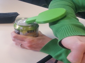 OT student project : can opener helper / aide à l'ouverture de cannettes