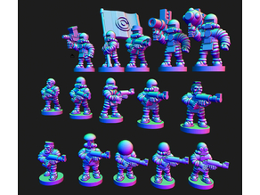 Wastewars - Lunar Coalition Mediator troopers