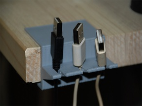 Clampable Cable Holder (customizable)