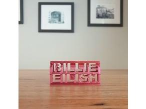 Billie Eilish 3d flip ornament