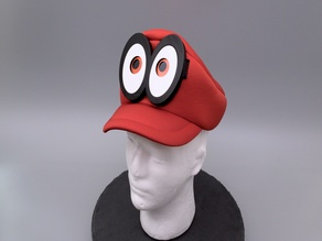 Mario Cappy Animated Eyes Hat