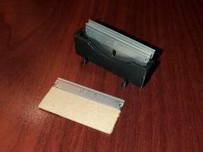 Single edge razor blade box - stand