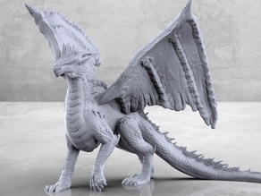 Silver Dragon - Tabletop Miniature
