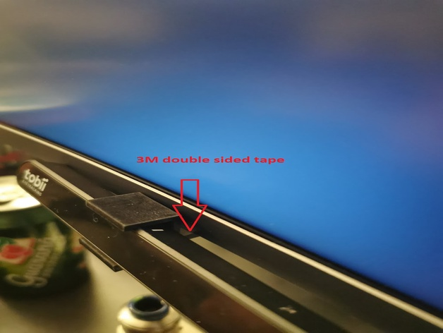 Tobii Eye Tracking 4c Curved Monitor Mount By Vollekanne Thingiverse