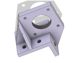 Nema 17 Motor Mount for 4020 Extrusion AM8