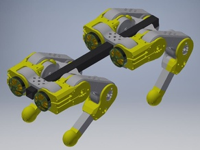 Quadruped with 3D cycloidal Gearboxes