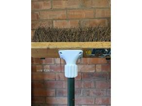Customizable broom handle bracket (collet based)
