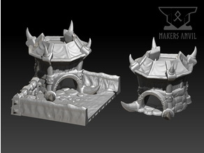 Dice BattleFields - Orcish Tower (Modular dice tower + tray)