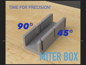 Mite Box for precise cutting of angles at 45 ° or 90 °