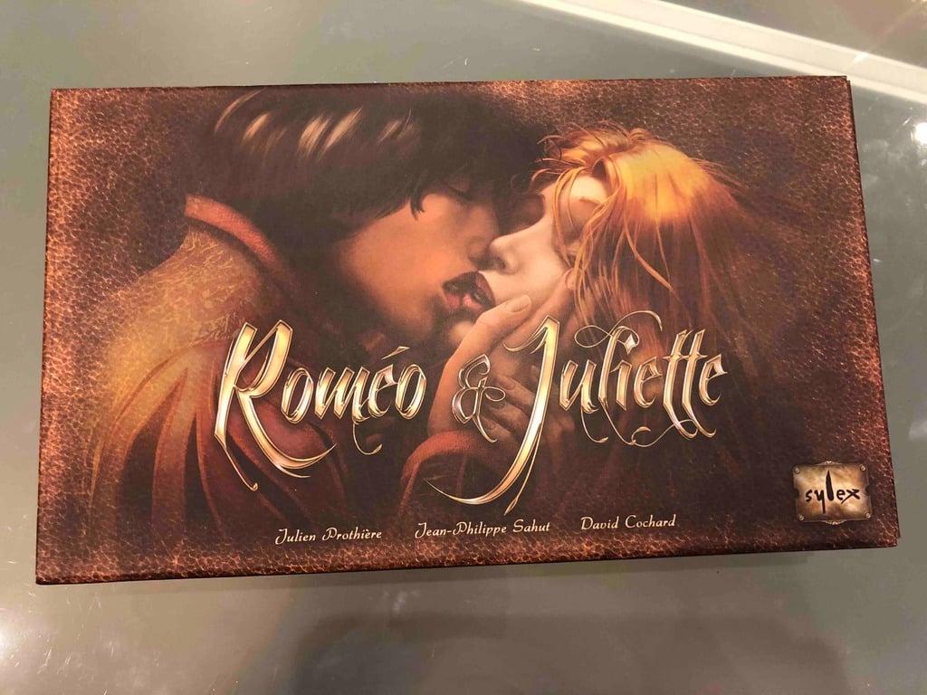 Romeo & Juliette boardgame insert